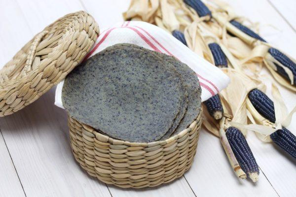 homemade-blue-corn-tortilla